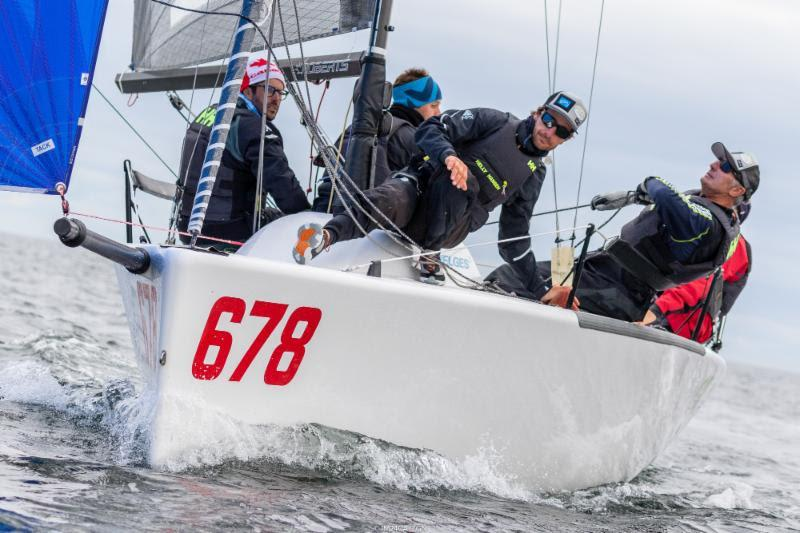 Altea ITA722 of Andrea Racchelli, scoring two bullets in a row and hence gaining the leadership of the provisional ranking on Day Three - 2018 Melges 24 World Championship - Day 3 photo copyright IM24CA / Zerogradinord taken at Royal Victoria Yacht Club, Canada and featuring the Melges 24 class