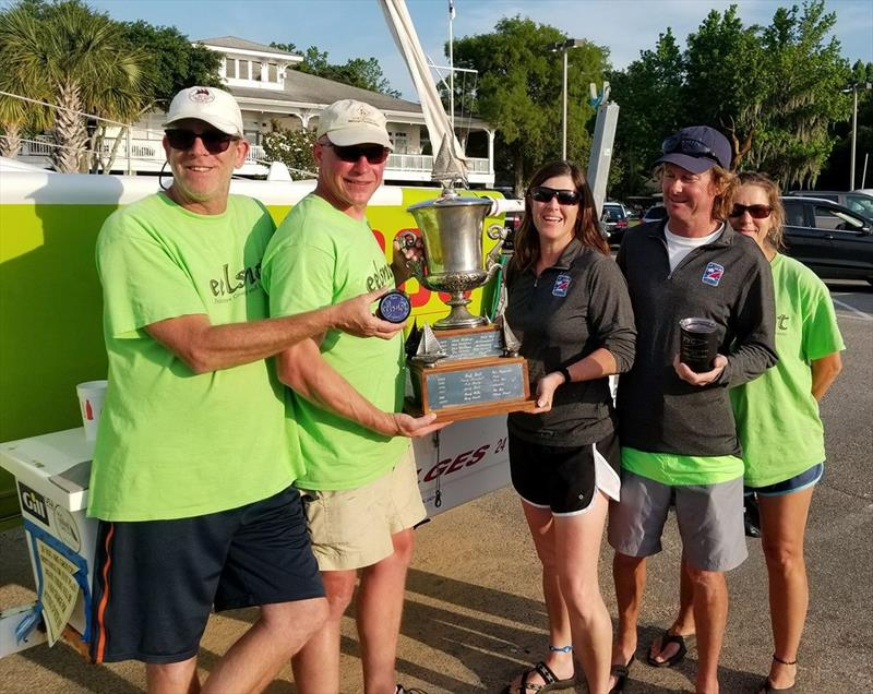 FNG/Eelsnot Racing Team showing off their hard-earned Melges 24 silverware - photo © Zane Yoder