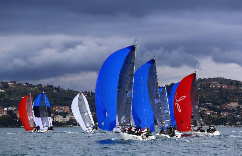 Melges 24 fleet in Portoroz - Day One of the 2109 Melges 24 European Sailing Series' 1st event  - photo © Andrea Carloni