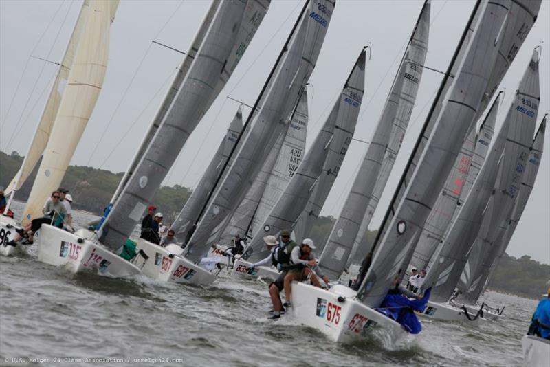 Melges 24 fleet at the Sperry Charleston Race Week 2019. © U.S. Melges 24 Class Association