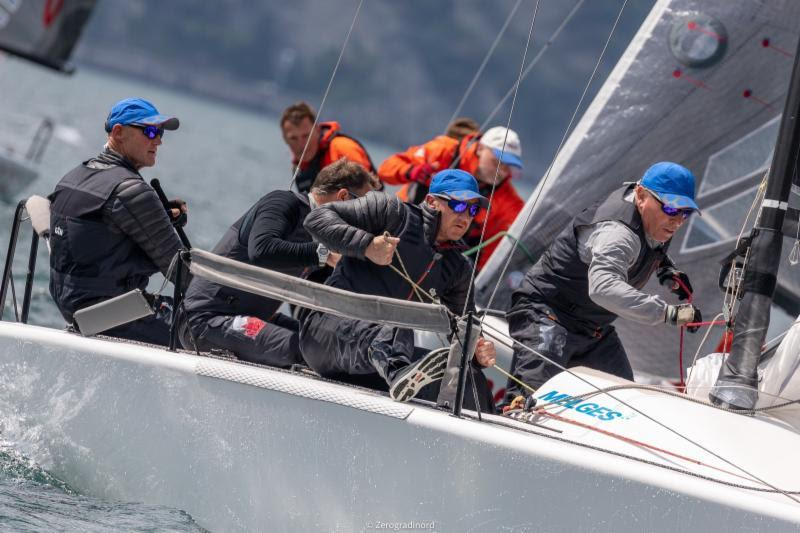 Miles Quinton's Gill Race Team GBR694 with Geoff Carveth at the helm leads the Corinthian division - 2019 Melges 24 European Sailing Series - photo © IM24CA / Zerogradinord