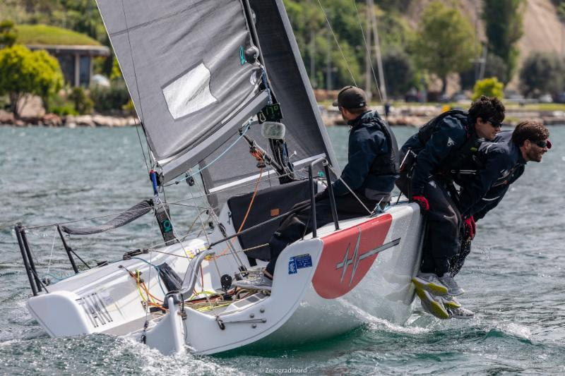 Marco Zammarchi's Taki 4 ITA778 occupies second place in Corinthian division - 2019 Melges 24 European Sailing Series photo copyright IM24CA / Zerogradinord taken at Fraglia Vela Malcesine and featuring the Melges 24 class