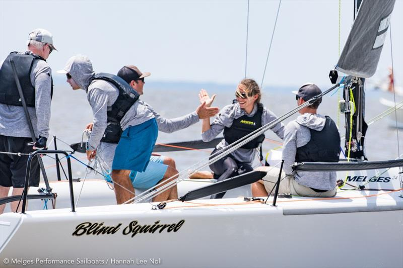 2019 Melges 24 U.S. National Championship - Day 1 photo copyright Hannah Lee Noll taken at Fairhope Yacht Club and featuring the Melges 24 class