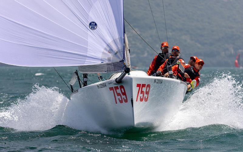 Awesome conditions for sailing on Lake Garda during two days of the event. - Melges 24 European Sailing Series at Riva del Garda, Italy - photo © Mauro Melandri / Zerogradinord