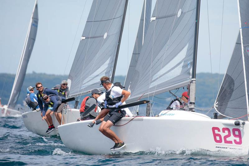 Canada's Dan Berezin racing Surprise shined bright in Race Two, scoring a third place finish - 2019 Melges 24 North American Championship - photo © Bill Crawford - Harbor Pictures Company