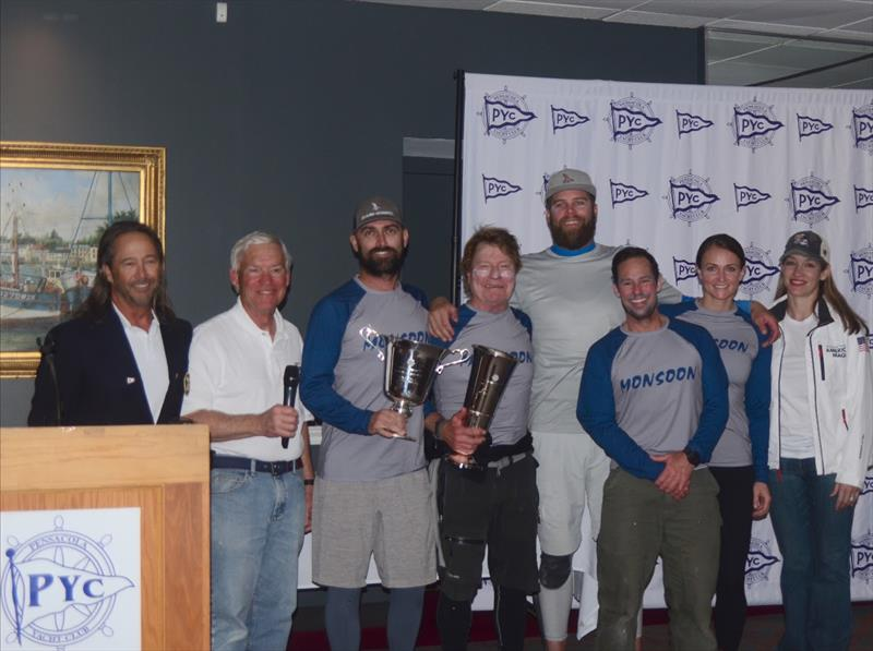 Bruce Ayres' Monsoon [USA 825] with crew Brian Porter, George Peet, Chelsesa Simms and Stars Stripes USA CEO/skipper Mike Buckley won the inaugural Bushwhacker Cup with scores of 2-1-2-5-1 for 11 points. - photo © Talbot Wilson