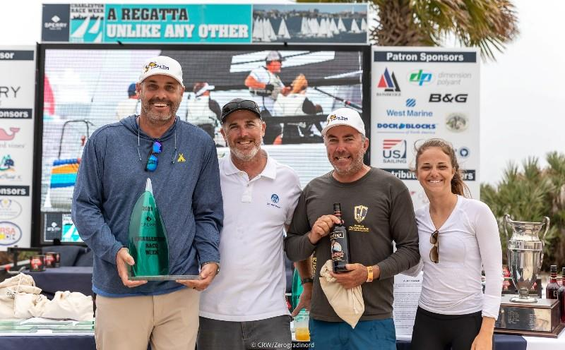 John Bowden (second from left) aboard of Travis Weisleder's Lucky Dog / Gill Race Team USA858 - the winner of 2019 Sperry Charleston Race Week - photo © CRW / Zerogradinord