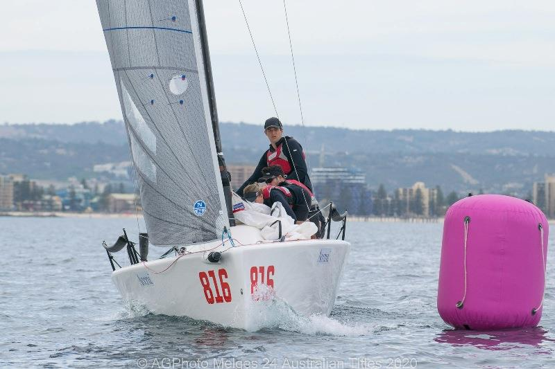 Matthew Speirs' Amigos won two races on Day 3 of the Melges 24 Nationals - photo © Ally Graham