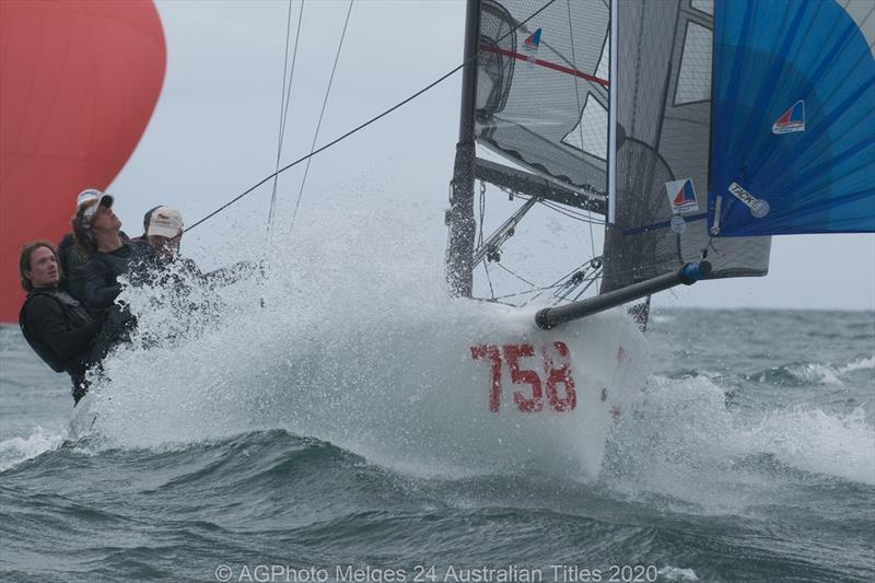 Wet wild and windy on the final day of the 2020 Australian Melges 24 National Championships - photo © Ally Graham