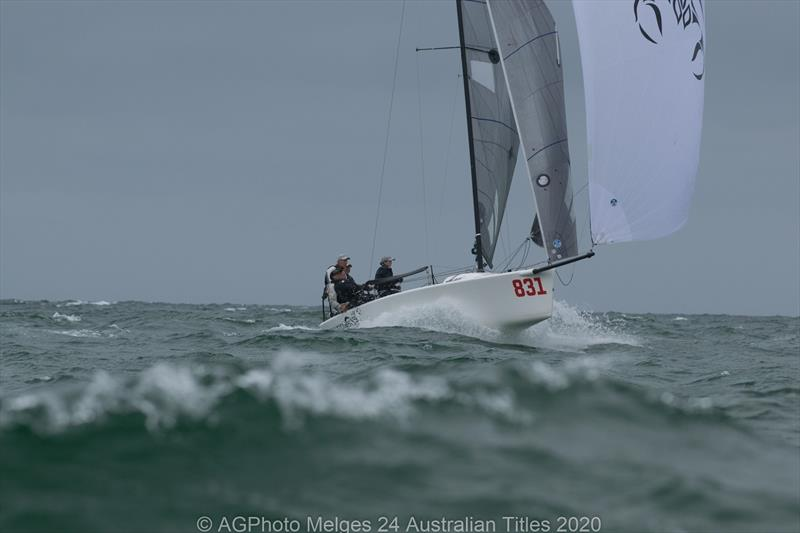 Sandy Higgins and the Scorpius team finished second overall in the 2020 Australian Melges 24 National Championships - photo © Ally Graham