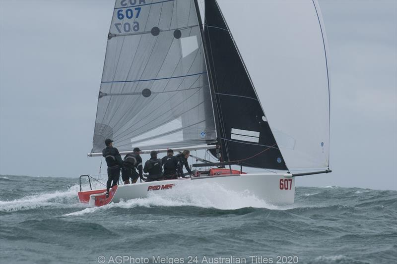 Robbie Deussen and his team on Red Mist came away with their second national title in a row - 2020 Australian Melges 24 National Championships - photo © Ally Graham