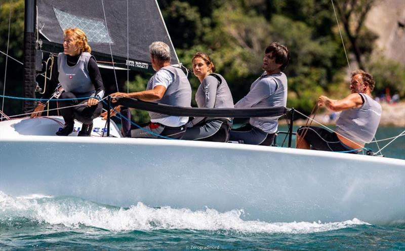 Michele Paoletti onboard Strambapapà ITA689 - 2020 Melges 24 European Sailing Series Event #1 in Torbole, Italy - photo © Zerogradinord / IM24CA