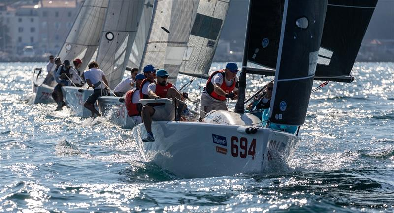 Miles Quinton's Gill Race Team GBR694 with Geoff Carveth steering is on the second position in the current ranking results of the Melges 24 European Sailing Series 2020 both in overall and Corinthian ranking - photo © Zerogradinord / IM24CA