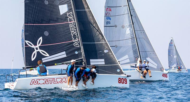 Arkanoe by Montura ITA809 of Sergio Caramel is completing the preliminary podium of the 2020 Melges 24 European Sailing Series - photo © Zerogradinord / IM24CA