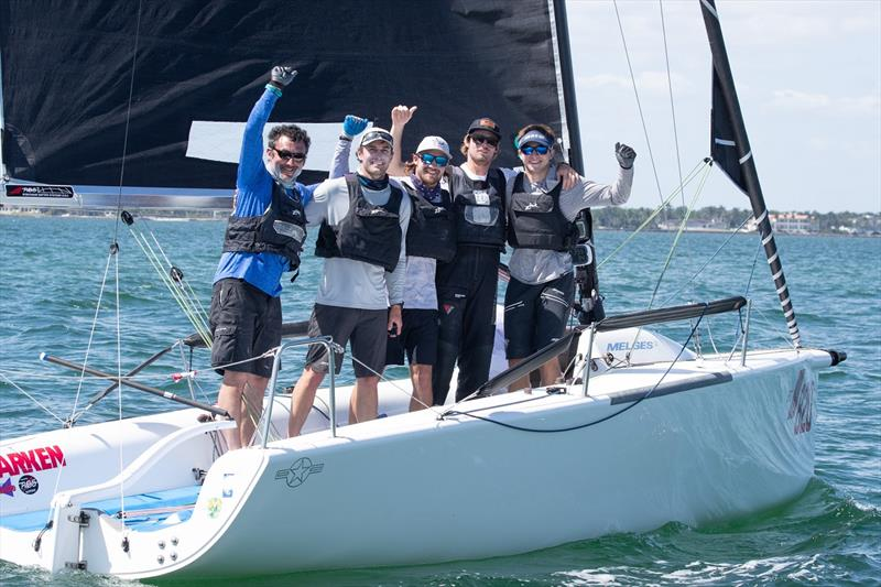 Bora Gulari defends 2020 Melges 24 title with his team on 'New England Ropes' - Bacardi Cup Invitational Regatta - photo © Matias Capizzano