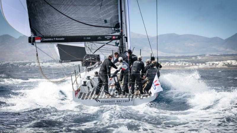 2018 Lanzarote Melges 40 Grand Prix - Valentin Zavadnikov, Dynamiq Synergy photo copyright Melges 40 / Barracuda Communication taken at  and featuring the Melges 40 class