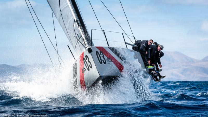 2018 Lanzarote Melges 40 Grand Prix - Valentin Zavadnikov, DYNAMIQ SYNERGY - photo © Melges 40 / Barracuda Communication