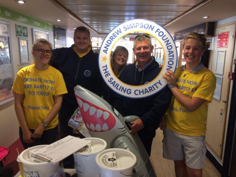 The cadets from Brading Haven Yacht Club on the Isle of Wight have spent the day to'ing and fro'ing between the Island and Southampton aboard Red Funnel's car ferry and with a captive audience have managed to raise over £500 during Bart's Bash 2017 - photo © Brading Haven Yacht Club