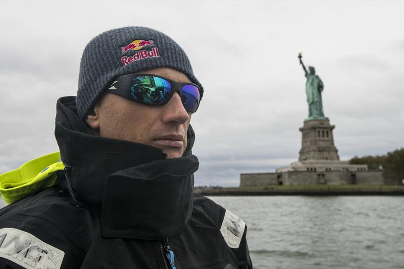Jimmy Spithill onboard the F4 during a test-sail with Team Falcon in New York, NY, USA - photo © Amory Ross / Red Bull Content Pool