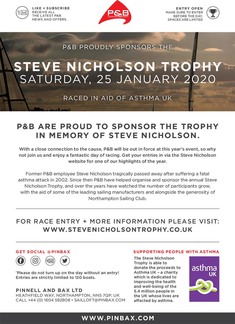 Steve Nicholson Trophy 2020 to be held on 25th January in aid of Asthma UK