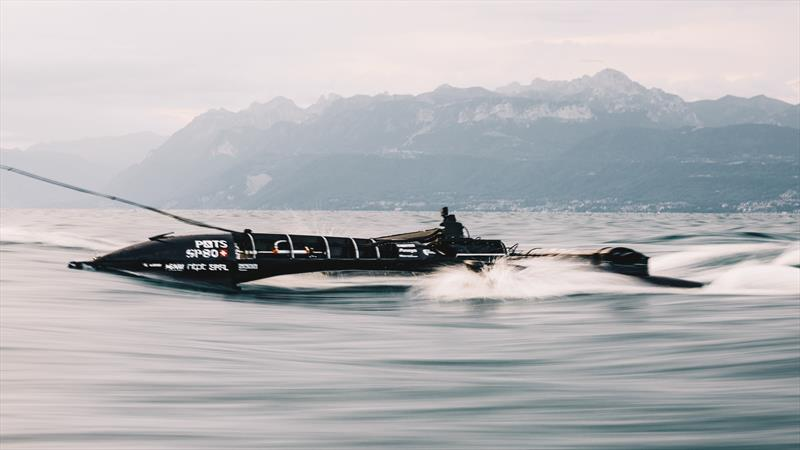 SP80 prototype testing on Lake Geneva - photo © Guillaume Fischer / SP80