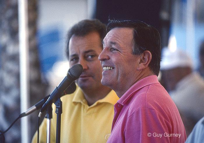 Bob Fisher with Larry Keating (background) - photo © Guy Gurney