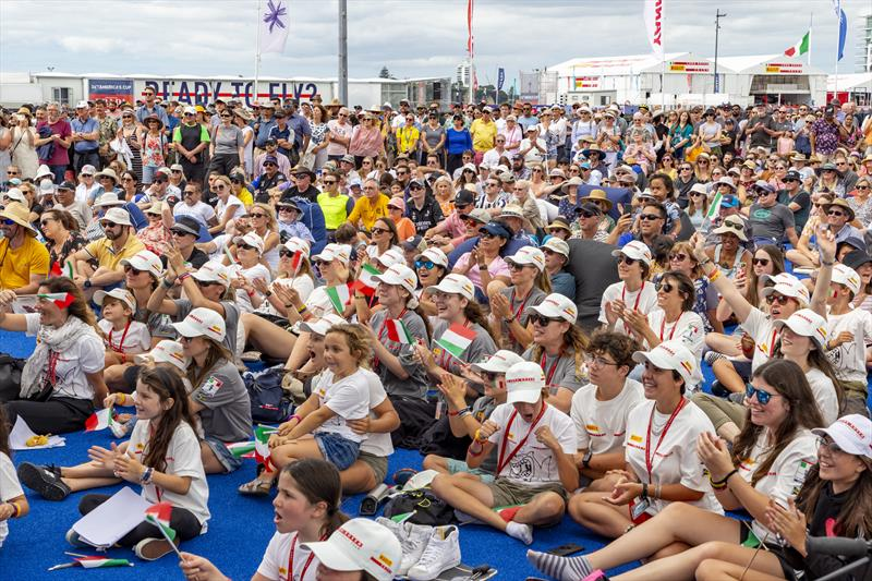 PRADA Cup Day 2 spectators in the America's Cup Race Village photo copyright COR36 / Studio Borlenghi taken at