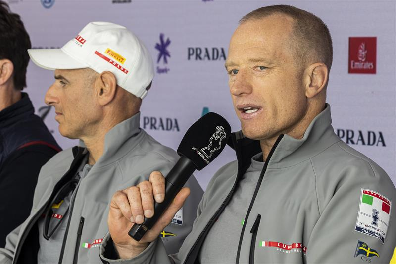 Jimmy Spithill talks during the PRADA Cup Press Conference ahead of Robins 3 & 4 - photo © COR36 / Studio Borlenghi