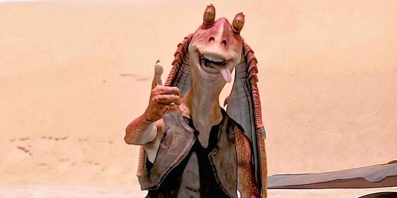Everyone's favourite Star Wars character Jar Jar Binks could soon be seen helming in AI AC36.5 v1.0 - photo © Lucasfilm