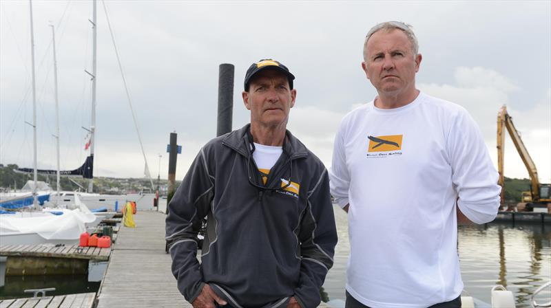 David Barnes and Rick Dodson, former America's Cup sailors who suffer from MS and are part of the New Zealand Sailing team in Kinsale for the IFDS World Championships photo copyright Michael Mac Sweeney / Provision taken at Kinsale Yacht Club