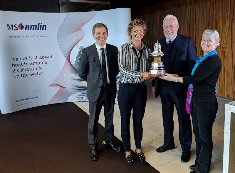 Tracy Edwards and Nikki Henderson jointly win the YJA Yachtsman and Young Sailor of the Year Award 2018 - photo © Yachting Journalists' Association