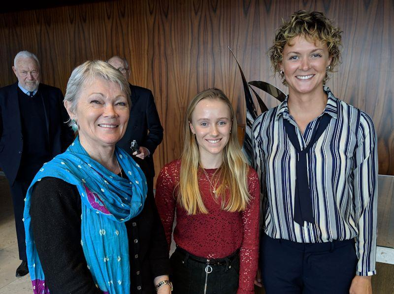 The three award winners at the YJA Yachtsman and Young Sailor of the Year Awards 2018 - photo © Yachting Journalists' Association
