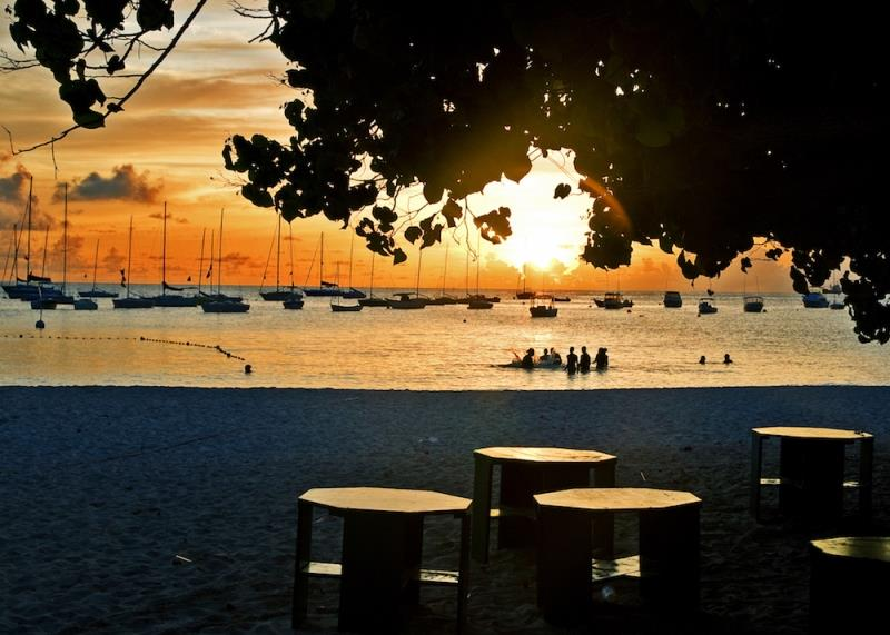 A classic evening sunset scene from host clubhouse, Barbados Cruising Club - photo © Peter Marshall / BSW
