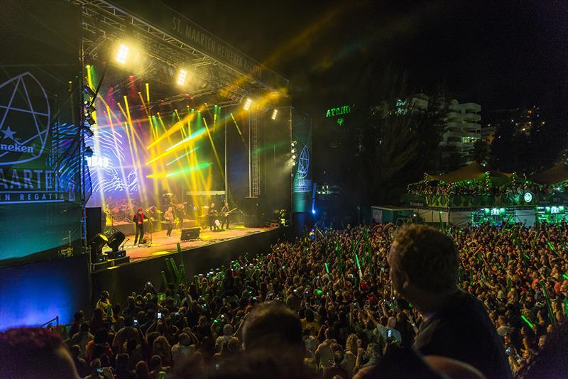 UB40 performing last year at the St. Maarten Heineken Regatta - photo © Carib Web Services