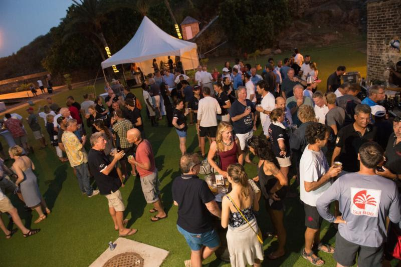 Crews enjoy the Antigua Bermuda Race welcome party at Nelson's Dockyard, Antigua - photo © Ted Martin
