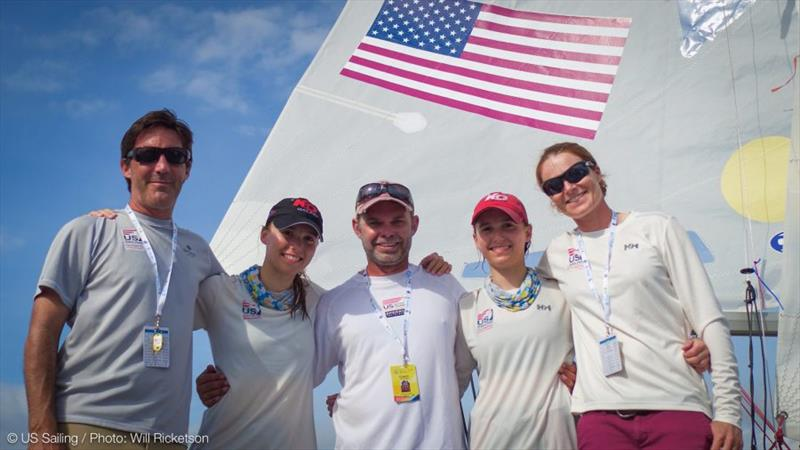(From left) U.S. Youth World Team Leader Leandro Spina, Emma Cowles, Steve Keen, Carmen Cowles, and Rosie Chapman. - photo © Will Ricketson