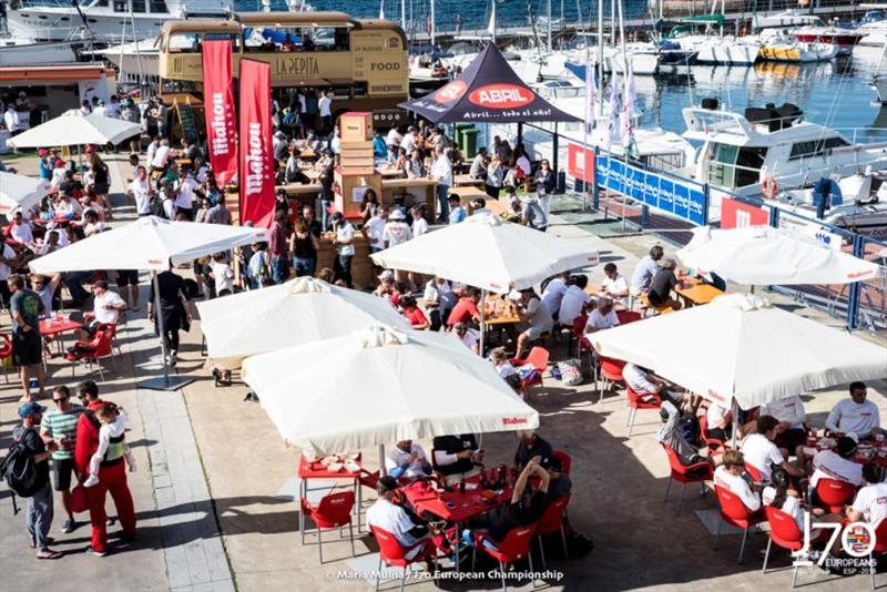 Regatta Village at the Real Club de Vigo - photo © María Muiña / J70 European Championships