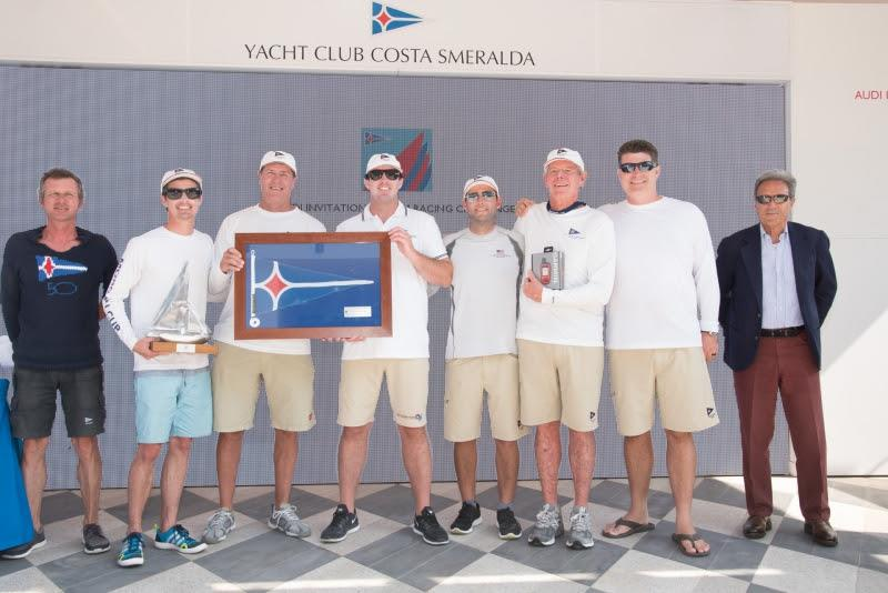 Newport Harbor YC team at the prize giving ceremony, Audi Invitational Team Racing Challenge 2018 - photo © YCCS / Nonnoi