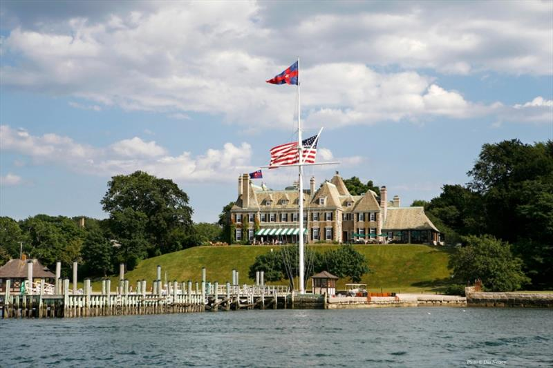 New York Yacht Club's Harbour Court clubhouse in Newport, Rhode Island. Newport was the venue for New York Yacht Club's defenses of the America's Cup from 1930-1983 - photo © Dan Nerney / NYYC