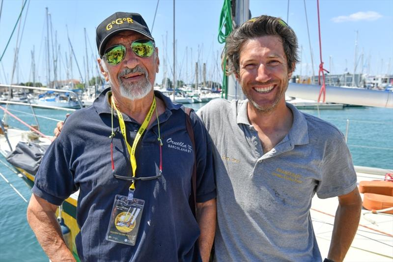 Francesco Cappelletti (right) with Alex Carozzo in Les Sables d'Olonne last week. Francesco, who withdrew from the GGR today will undertake the voyage as an independent Carozzo Sailor photo copyright Christophe Favreau / PPL / GGR taken at