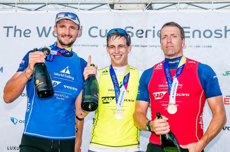 Nicholas Heiner (NED), Giles Scott (GBR) and Ed Wright (GBR) - photo © Jesus Renedo / Sailing Energy / World Sailing