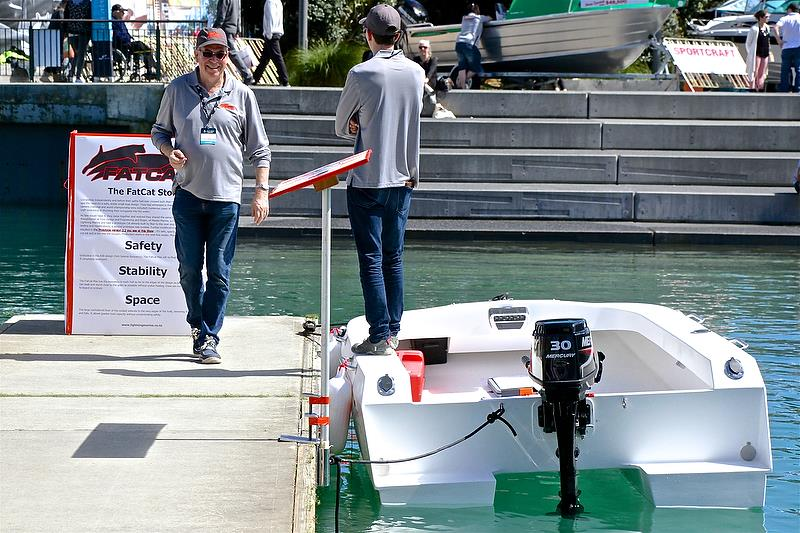 Fat Cat's stability demonstrated - Auckland On the Water Boat Show - Day 4 - September 30, 2018 - photo © Richard Gladwell