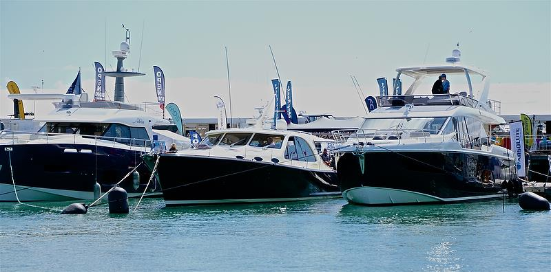Grand Banks 55 (centre) - Auckland On the Water Boat Show - Day 4 - September 30, 2018 - photo © Richard Gladwell