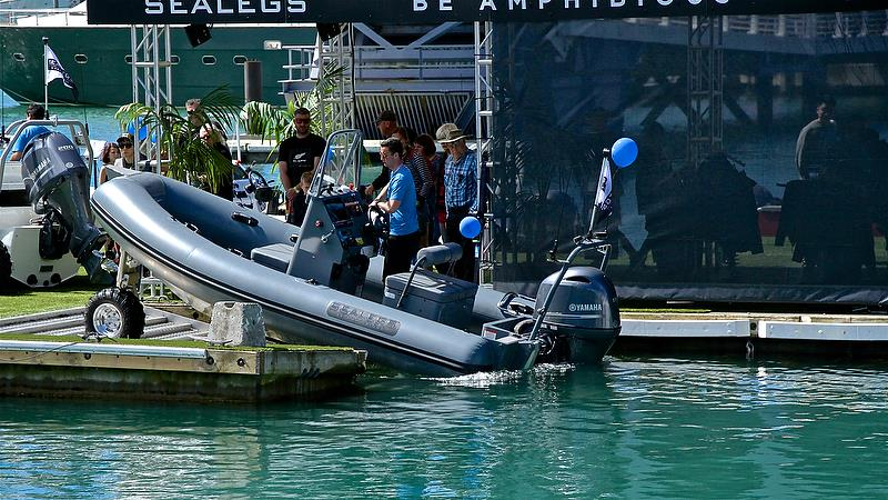Sealegs enters the water - Auckland On the Water Boat Show - Day 4 - September 30, 2018 - photo © Richard Gladwell