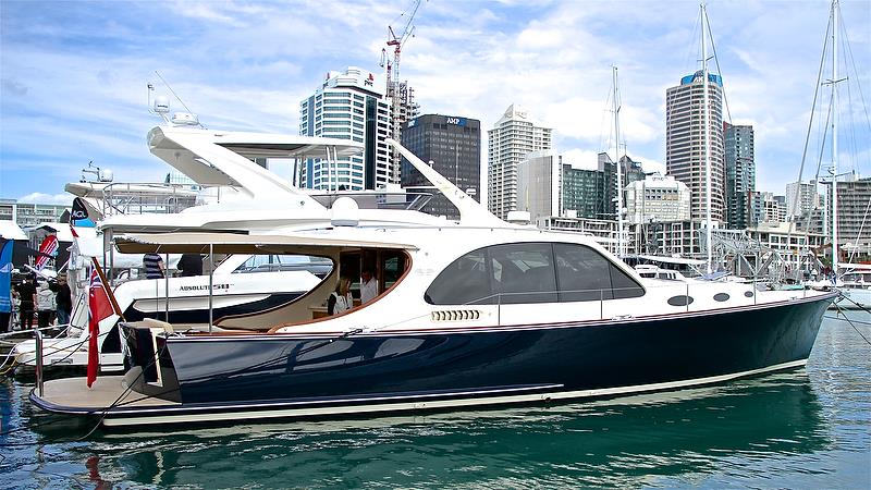 Grand Banks / Palm Beach Motor Yachts - hard to believe this is a seven year old vessel - Auckland On the Water Boat Show - Day 4 - September 30, 2018 photo copyright Richard Gladwell taken at