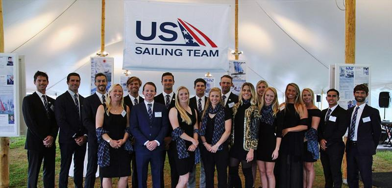 Members of the 2018 US Sailing Team at the Golden Spinnaker Benefit Dinner at New York Yacht Club Harbour Court on September 28, 2018 - photo © US Sailing