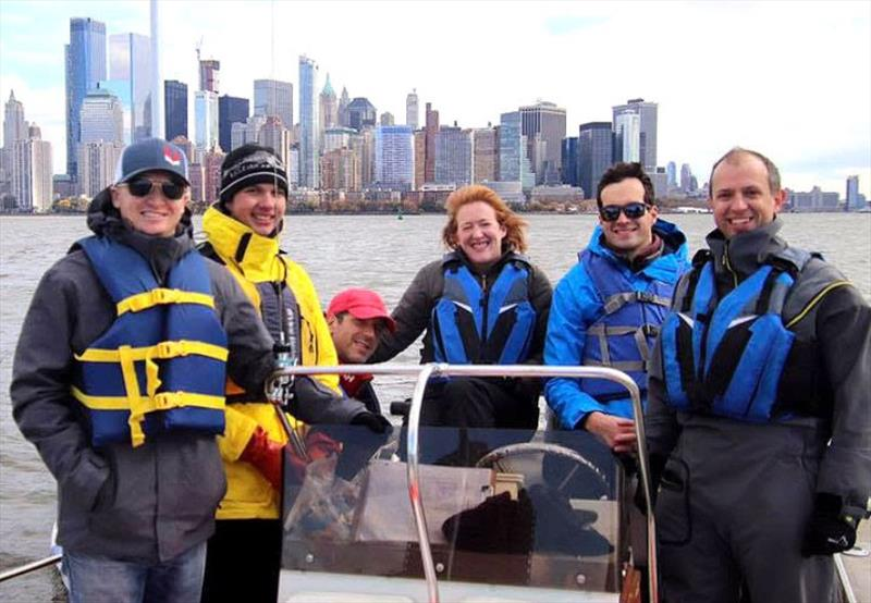 Serving on RC on a recent Saturday were (l to r): James Byrne, Alex Wiggins, Anthony Oland, Katherine Whitby, Kristof van Winden and Benoit Montin. - photo © Manhattan Yacht Club