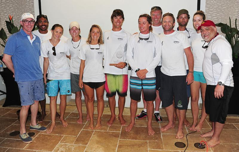 Norwood Smith, Scrub Island VP Sales and Marketing presents awards to Team `Spike` - Scrub Island Invitational Race - photo © BVI Spring Regatta