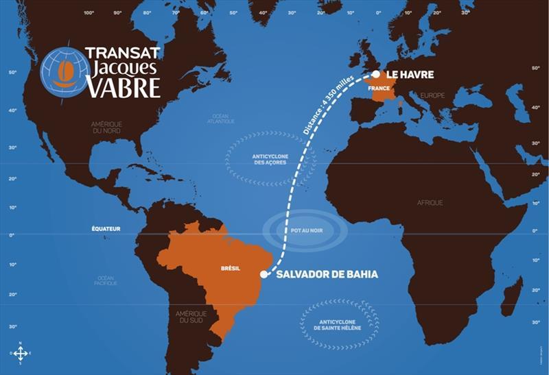 2019 Transat Jacques Vabre route - photo © Media TJV