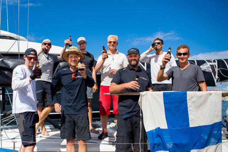 Arto Linnervuo's Finnish Xp-44 Xtra Staerk finished the 2018 RORC Transatlantic Race on the 11th December in an elapsed time of 17 days 01 hrs 40 mins and 24 secs. The all-Finnish team is on a mission to promote offshore sailing in Finland - photo © RORC / Arthur Daniel
